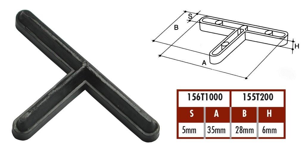 """Krížiky  na dlažbu ,,T"""" 5mm"""