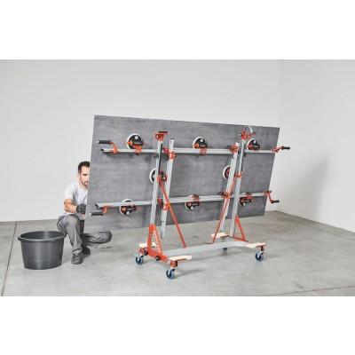 CAM vozík na prepravu a skladovanie veľkoformátových dlaždíc