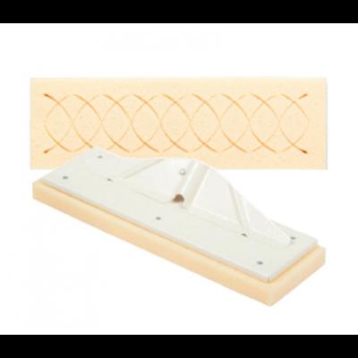 Náhradná špongia predrezaná s nádstavcom 13x42x3 cm