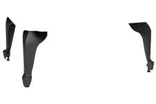 Príplatkové liatinové nožičky Čierne